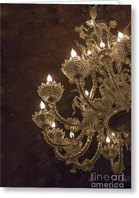 Chandelier Greeting Card by Margie Hurwich