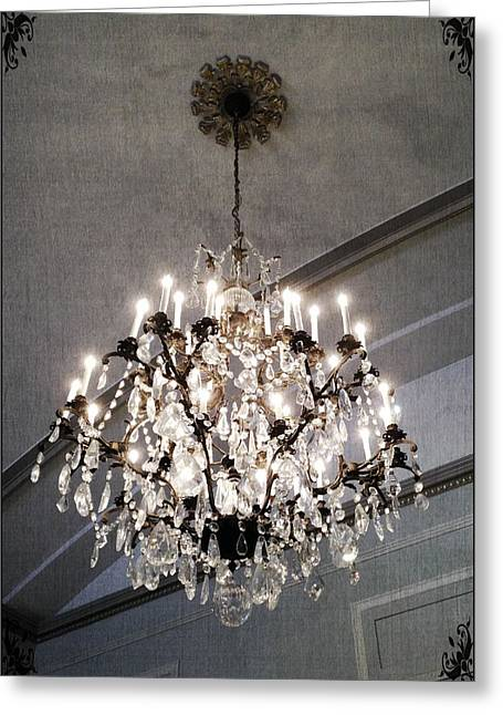 Chandelier Greeting Card by Marianna Mills