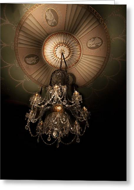 Chandelier Paxton House Greeting Card by Niall McWilliam