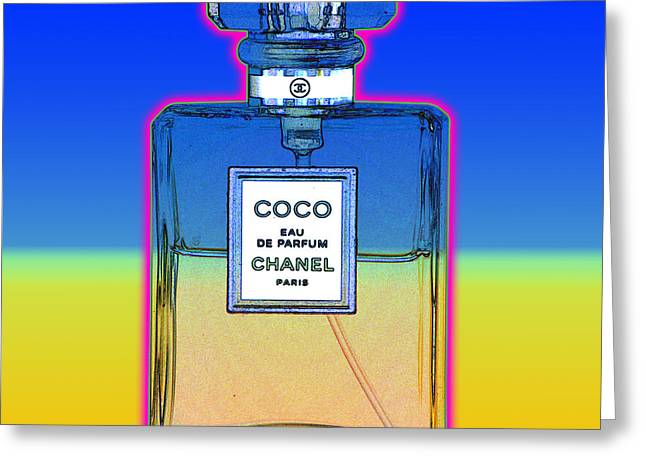Chanel Bottle 1 Greeting Card