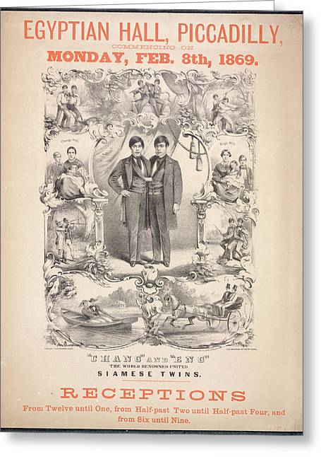 Chang And Eng Greeting Card by British Library