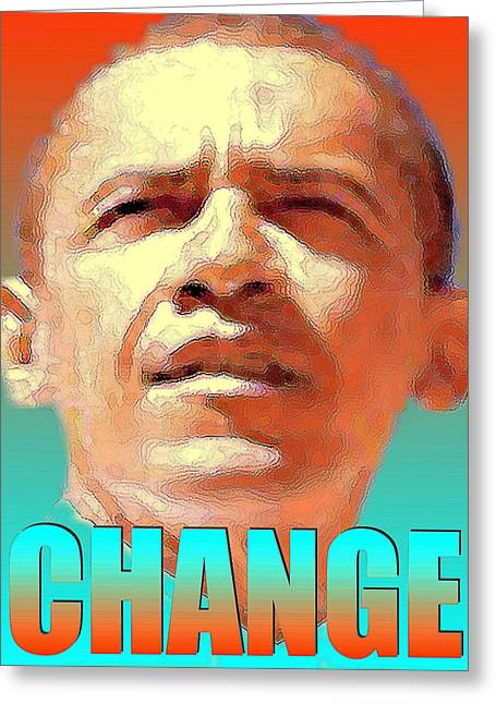 Barack Obama Change - Poster Greeting Card