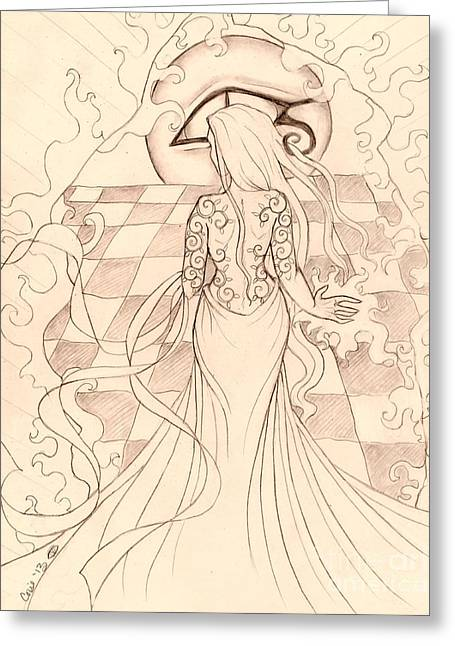 Changes Sketch Greeting Card by Coriander  Shea