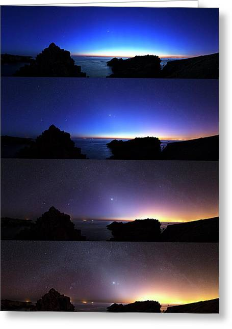 Changing Night Sky Greeting Card