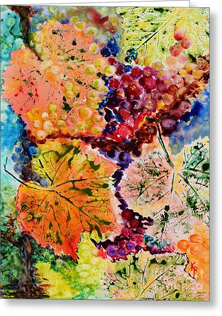 Greeting Card featuring the painting Changing Seasons by Karen Fleschler