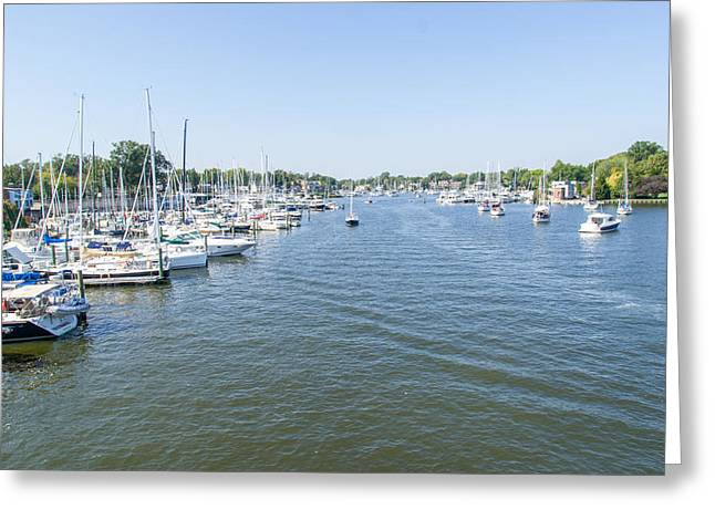 Channel Down Spa Creek Greeting Card by Charles Kraus