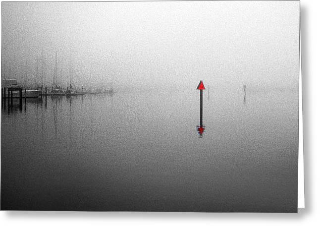 Channel Markers Greeting Card by Skip Willits
