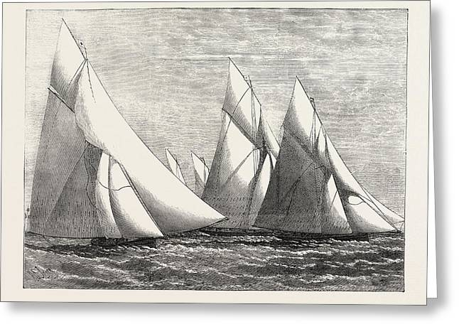 Channel Match Of The Royal London Yacht Club From Dover Greeting Card by English School