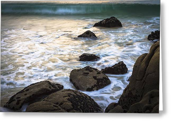 Chanteiro Beach Galicia Spain Greeting Card