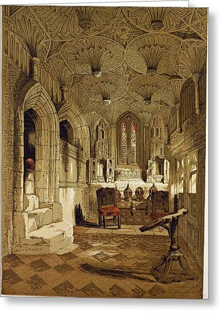 Chantry Chapel Adjoining The Beauchamp Chapel Warwick Uk Greeting Card