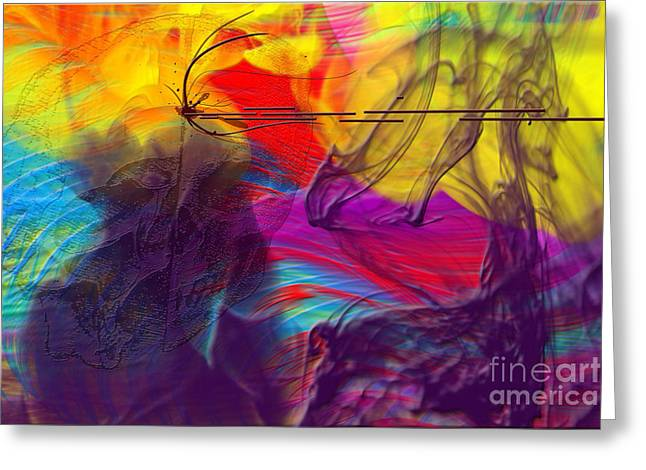 Greeting Card featuring the digital art Chaos by Clayton Bruster