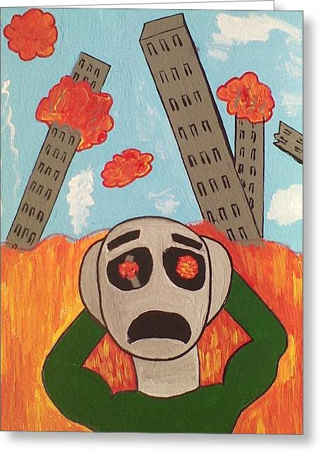 Chaos Greeting Card by Lew Griffin