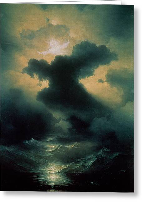 Chaos The Creation Greeting Card by Ivan Konstantinovich Aivazovsky