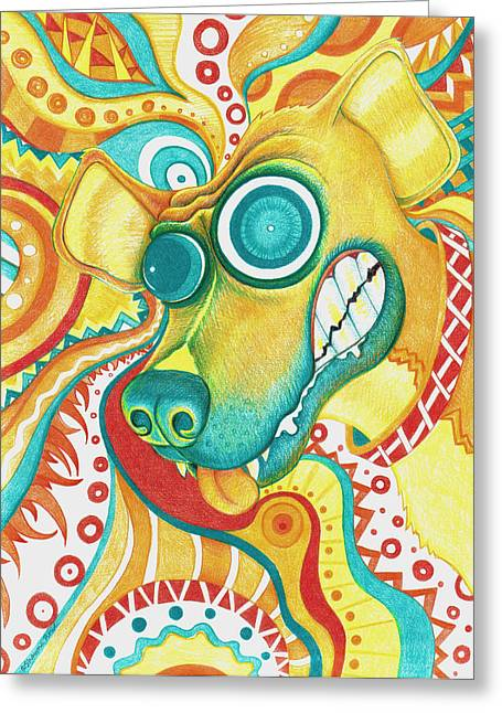 Chaotic Canine Greeting Card