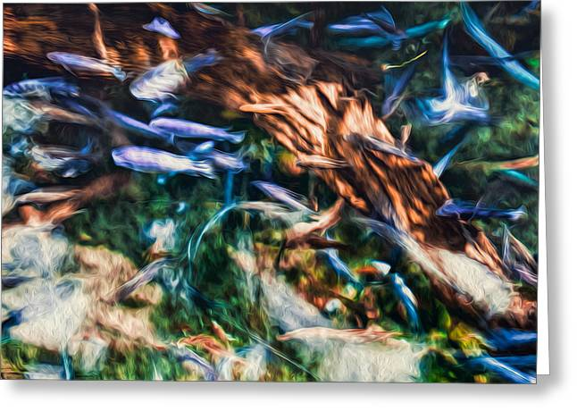 Greeting Card featuring the photograph Chaotic Mess by Joshua Minso
