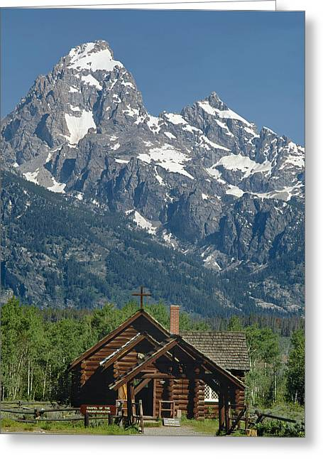1m9335-chapel And Grand Teton Greeting Card by Ed  Cooper Photography