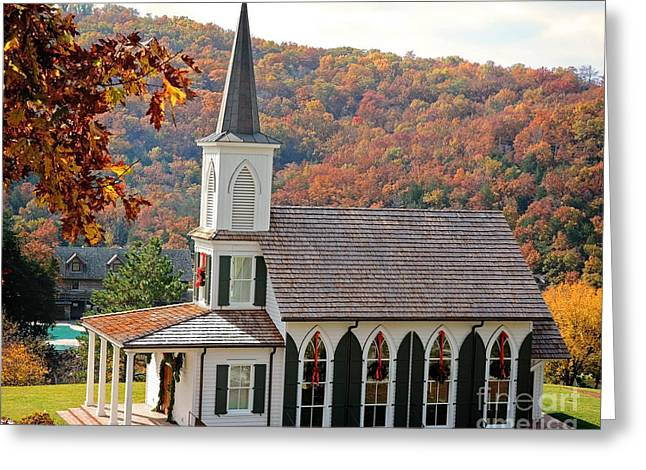Chapel At Big Cedar Greeting Card
