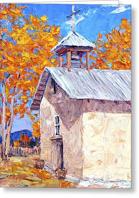 Chapel At Ojo Claiente Greeting Card by Steven Boone