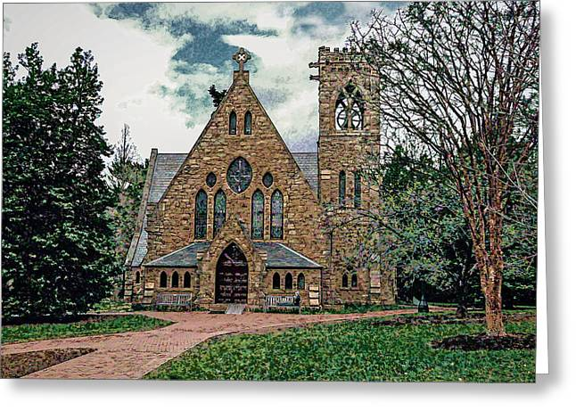 Chapel At University Of Virginia Greeting Card by Jerry Gammon