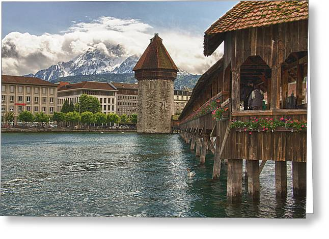 Chapel Bridge Lucerne Switzerland Greeting Card