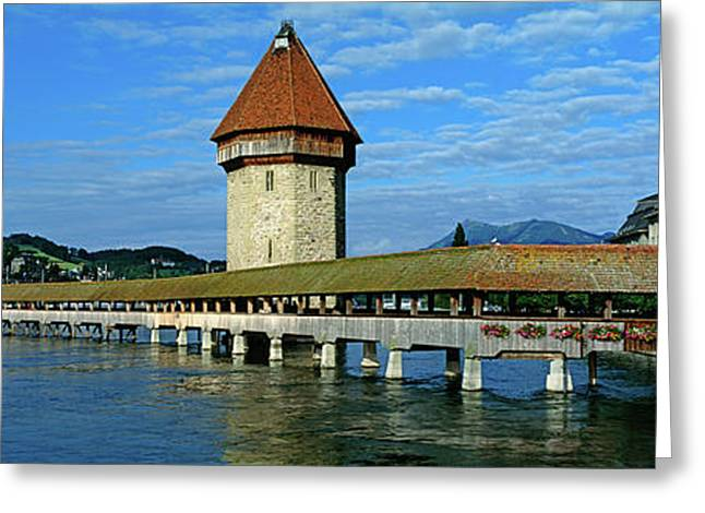 Chapel Bridge On The Reuss River Greeting Card