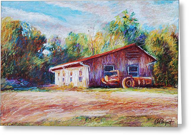 Chapel Hill Creamery Barn Greeting Card by Bethany Bryant