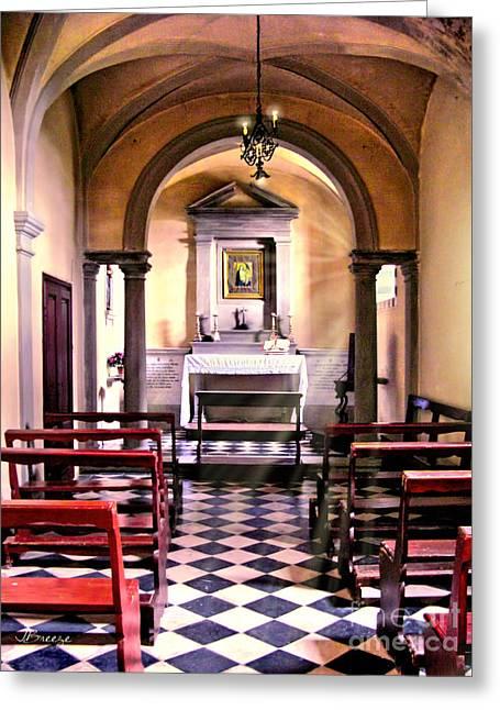 Chapel In Firenze Greeting Card by Jennie Breeze