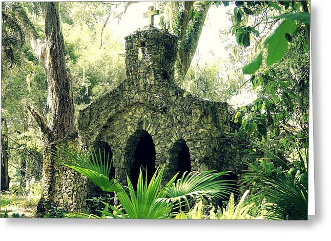 Chapel In The Woods Greeting Card by Laurie Perry