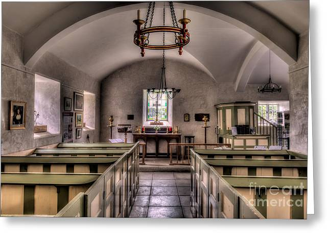 Chapel In Wales Greeting Card by Adrian Evans