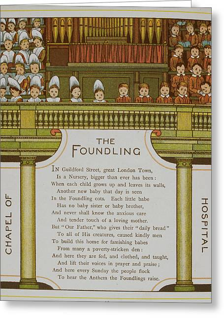 Chapel Of The Foundling Hospital Greeting Card