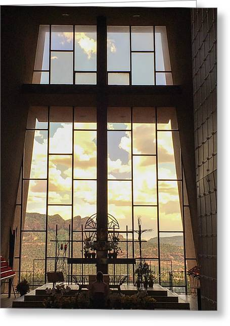 Chapel Of The Holy Cross Greeting Card by Beverly Tabet