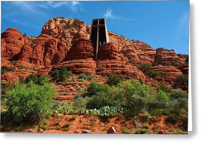 Greeting Card featuring the photograph Chapel Of The Holy Cross by Dany Lison