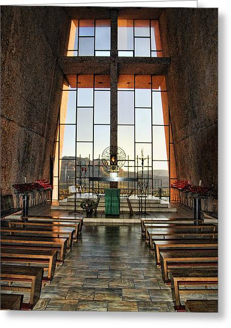 Chapel Of The Holy Cross Interior Greeting Card by Jon Berghoff
