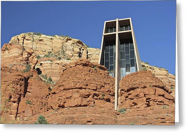 Greeting Card featuring the photograph Chapel Of The Holy Cross by Penny Meyers