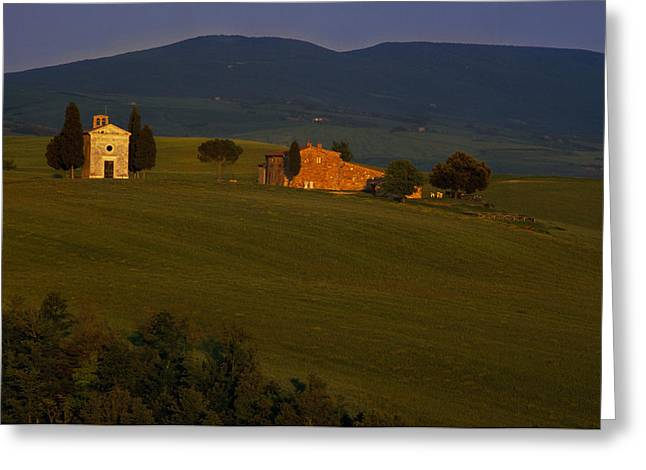 Chapel On A Hillside Greeting Card by Andrew Soundarajan