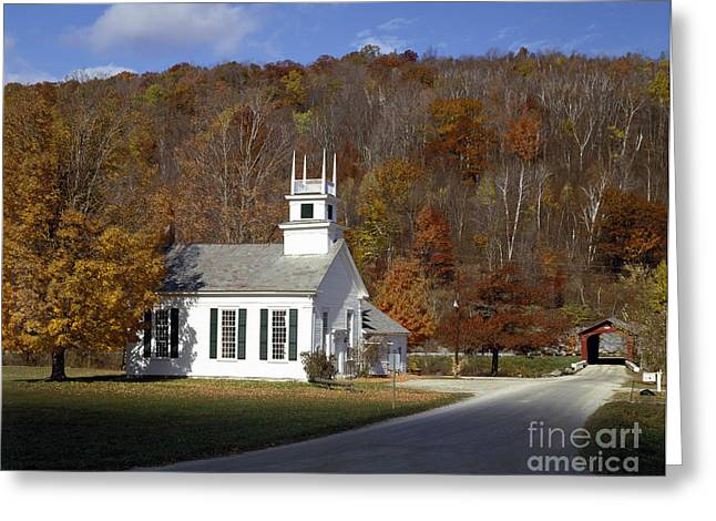 Chapel On The Green, Vermont Greeting Card