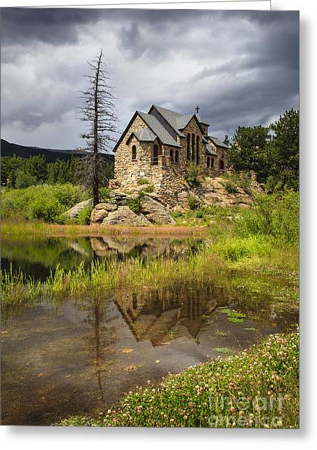 Chapel On The Rock Greeting Card by Dennis Hedberg