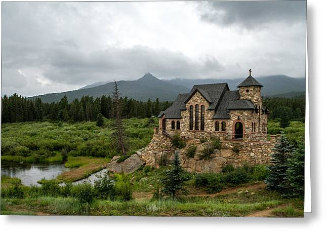 Chapel On The Rock Greeting Card by Jeff Stoddart