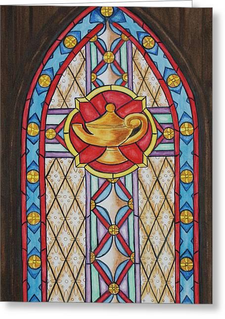 Chapel Window Greeting Card