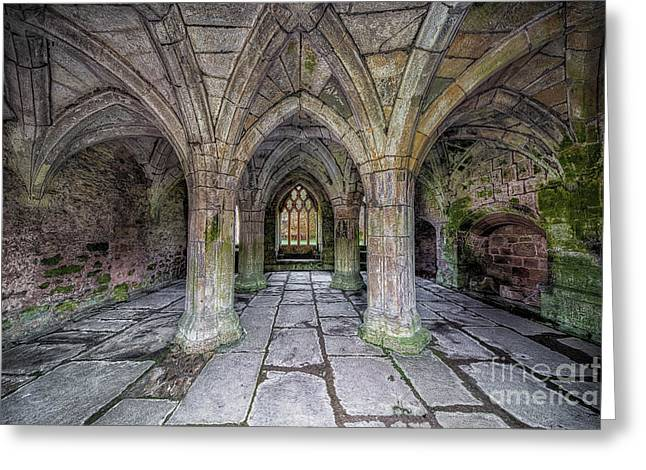 Chapter House Interior Greeting Card by Adrian Evans