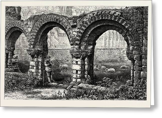 Chapter House, Much Wenlock Abbey, Abbey Greeting Card