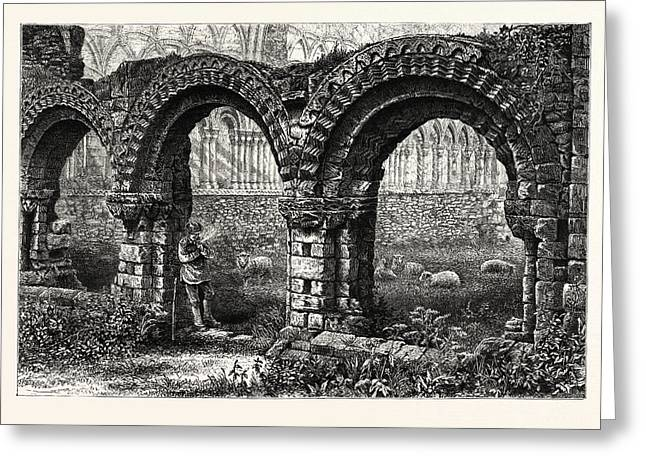Chapter House, Much Wenlock Abbey, Uk, Britain Greeting Card