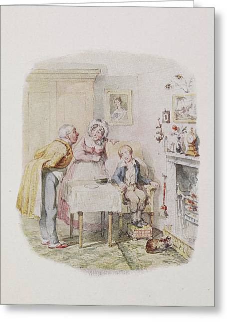 Characters From Oliver Twist Greeting Card