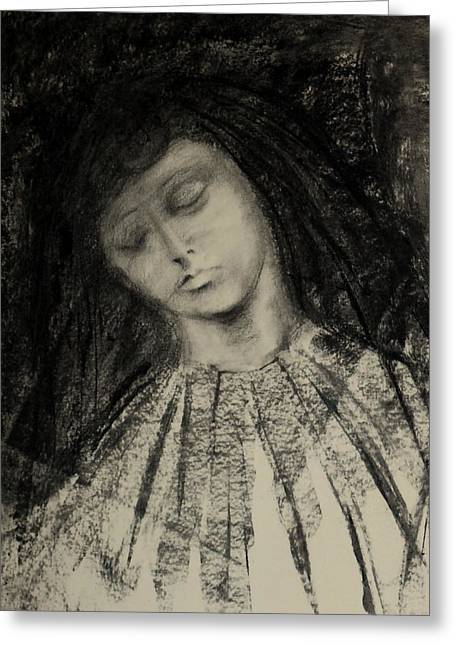 Charcoal Drawing Greeting Card