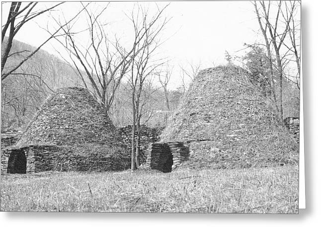 Charcoal Furnaces Greeting Card by Hagley Museum And Archive