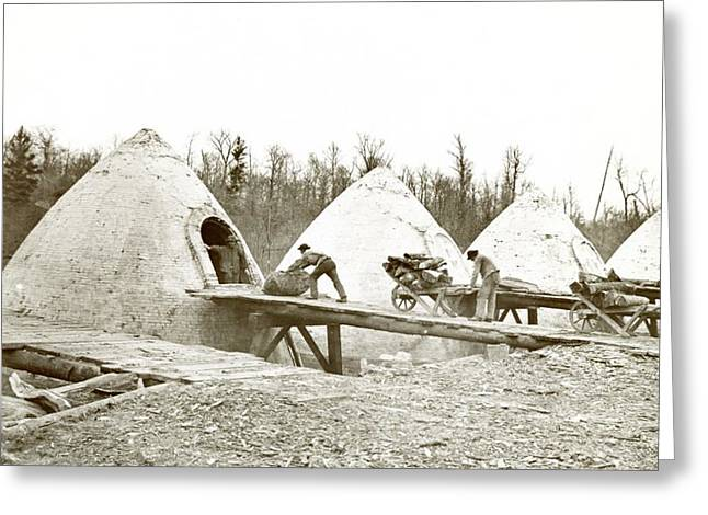 Charcoal Ovens Greeting Card by Hagley Museum And Archive