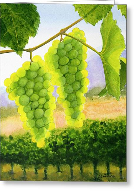 Chardonnay Grapes Greeting Card by Mike Robles