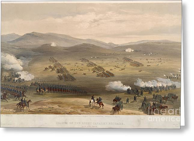 Charge Of The Light Brigade Greeting Card by British Library