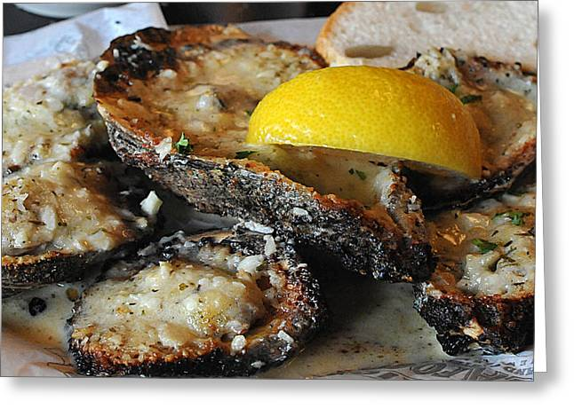 Chargrilled Oysters Greeting Card