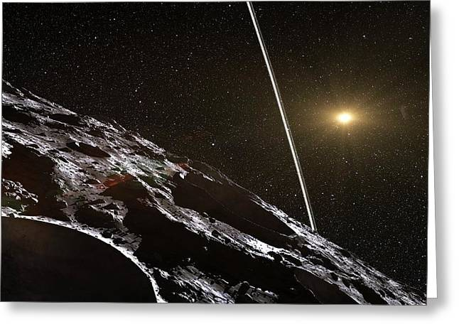Chariklo Minor Planet And Rings Greeting Card